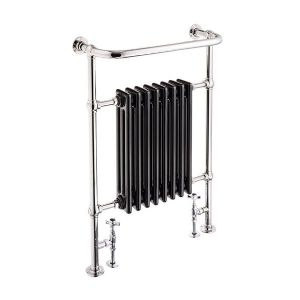 St James Heated Towel Rail with Cast Iron Fins - SJ950001-BK